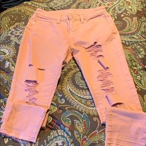 A.n.a Skinny ankle pink jeans size 4